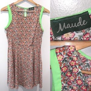 Maude Anthropologie Floral Retro Dress